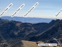Looking east from Mount Baldy. My plan was to hike Mount Baldy, Sugarloaf, Devil's Castle, and Point Supreme.