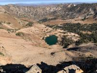 Another view of Cecret Lake from the ridge between Sugarloaf and Devil's Castle.