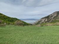 View of Utah Lake from the meadow at the top of Grove Creek