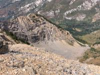 View from Box Elder Peak: Looking north into Dry Creek Canyon.