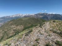 View of Little Cottonwood ridge